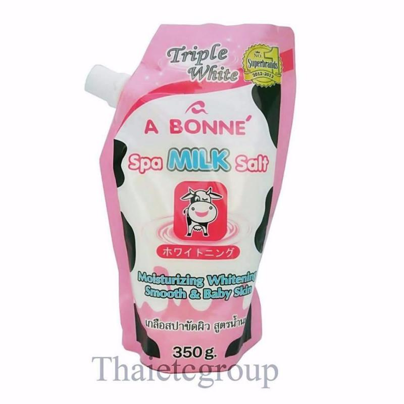 Muối Sữa Tắm Trắng Spa A Bonne- Spa Milk Salt350g, Bổ Sung Tinh Chất Thiên Nhiên Cần Thiết Giúp Da Trắng Sáng