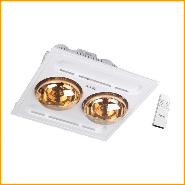 Đèn sưởi nhà tắm Kottmann 2 bóng âm trần điều khiển từ xa K9R