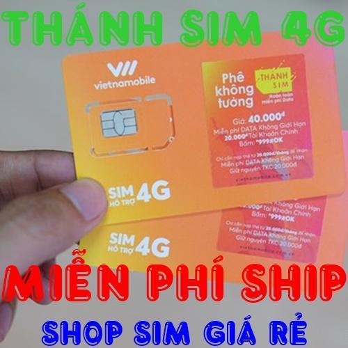 Hình ảnh MIỄN PHÍ SHIP Thánh sim 3G/4G Vietnamobile 120GB / tháng