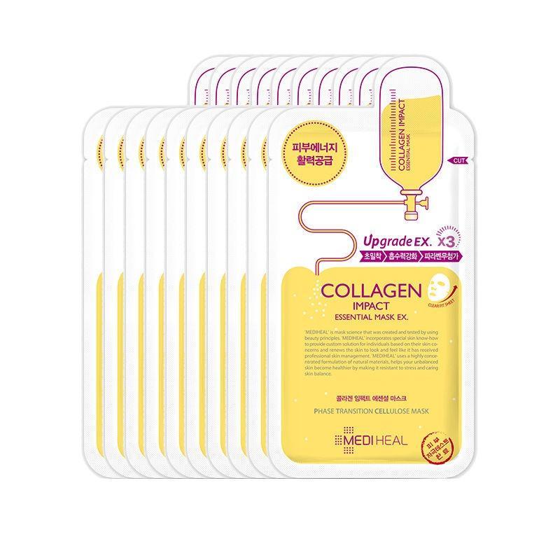 Bán Bộ 10 Goi Mặt Nạ Dưỡng Ẩm Ngăn Ngừa Lao Hoa Da Mediheal Collagen Impact Essential Mask 25Ml X10 Mediheal Trực Tuyến