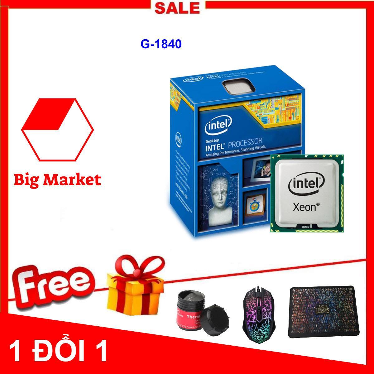Bộ vi xử lý Intel Celeron G1840 (2 lõi - 2 Luồng) + Bộ Quà Tặng - Hàng Nhập Khẩu
