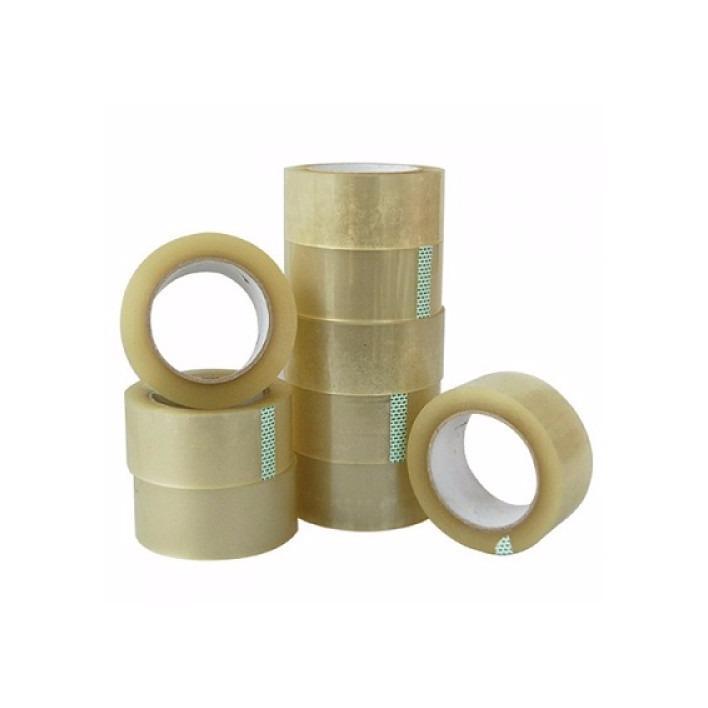 Mua Combo 6 cuộn Băng keo trong 48 mm 100Yard (92met), đường kính 12cm,loại bản bự Bi Xian