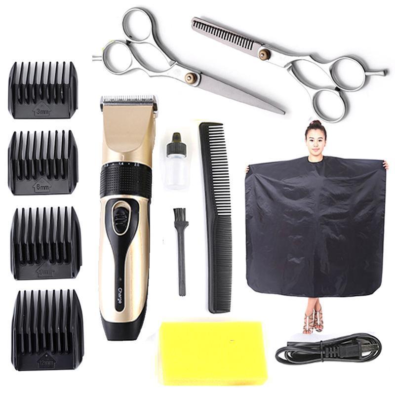 Bộ Tông Đơ Cắt Tóc BoJia Tặng kèm 2 kéo cắt kéo tỉa tặng áo choàng cắt tóc