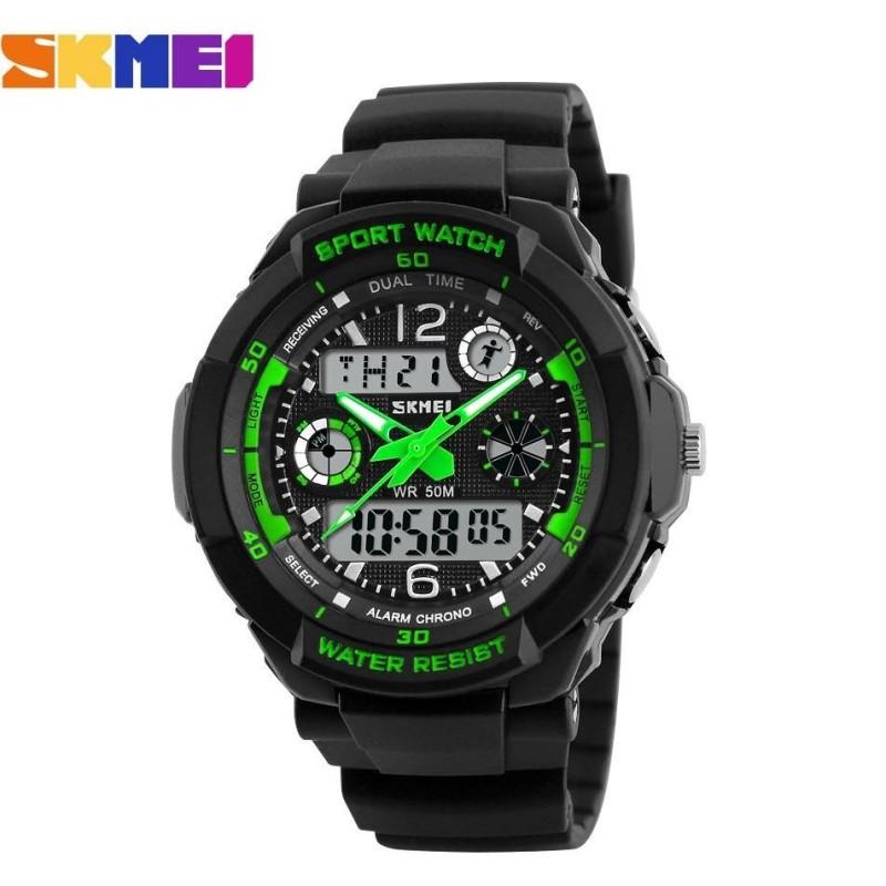 Nơi bán Đồng hồ thể thao trẻ em dây nhựa Skmei S-Shock 10K1N60 (Xanh Lá)