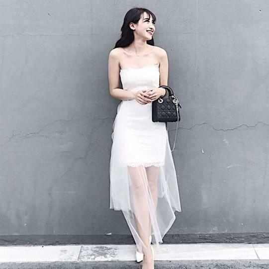 Bán Đầm Ren Nữ Phối Lưới Dự Tiệc Sang Trọng Fashion Shop Hồ Chí Minh