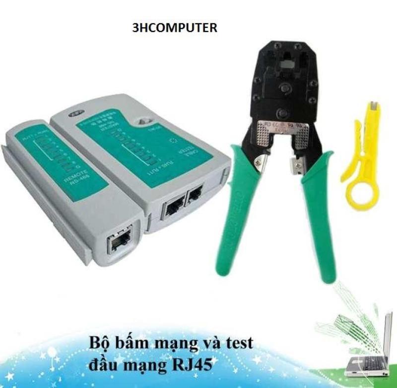 Bảng giá [Tặng Pin test] Combo bộ kìm bấm đầu mạng và test cap mạng RJ45 Phong Vũ
