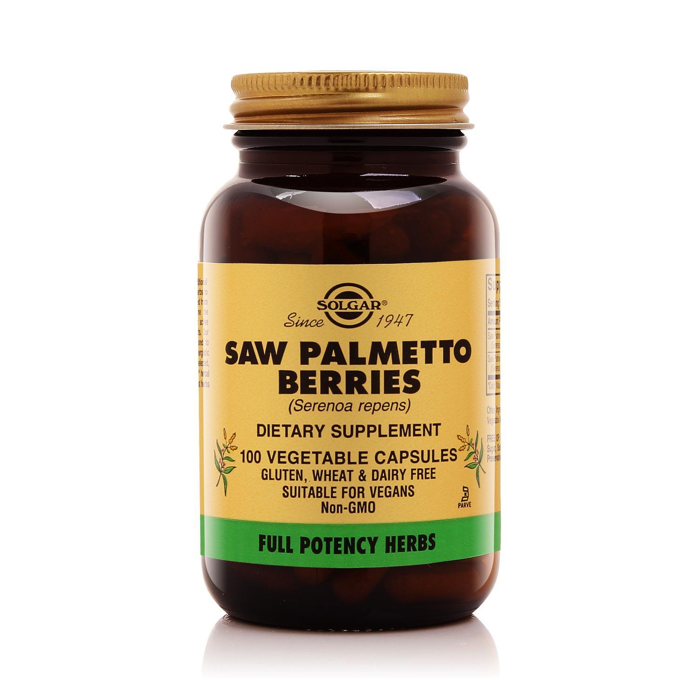 Viên uống tăng cường sức khỏe  sinh lý nam giới Solgar Cọ lùn Saw Palmetto Berries cao cấp