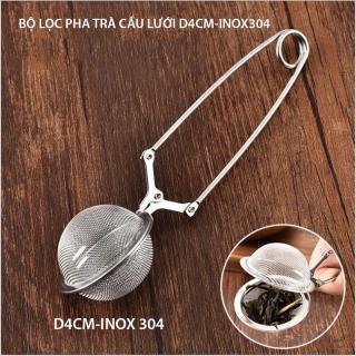 Dụng cụ lọc pha trà hình cầu D4cm có tay kẹp làm bằng INOX 304 dạng lưới thumbnail