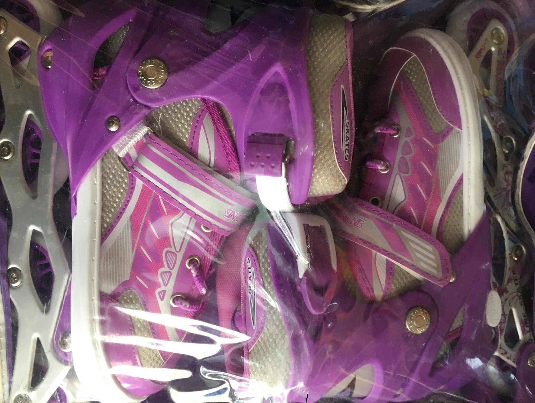 Giày Trượt Patin QF Màu Tím Full Size Cho mọi lứa tuổi