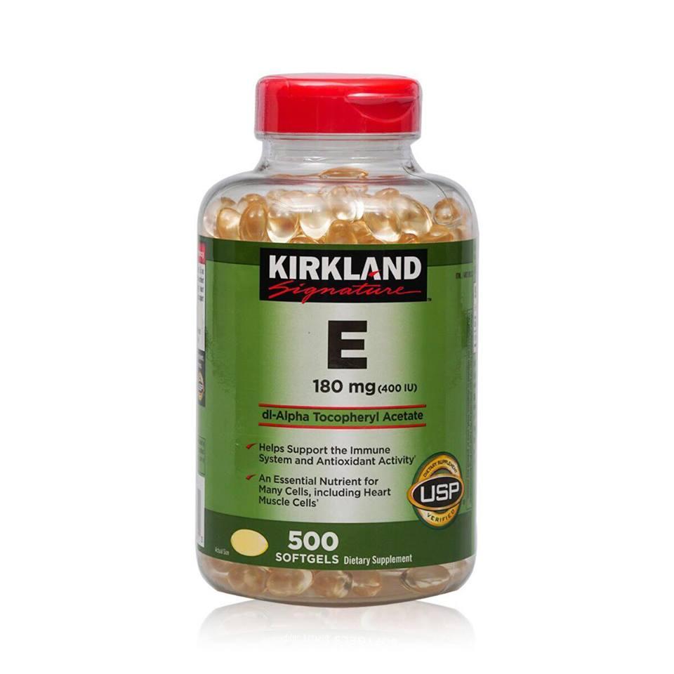 Hình ảnh Vitamin E 400 IU 500 viên Kirkland