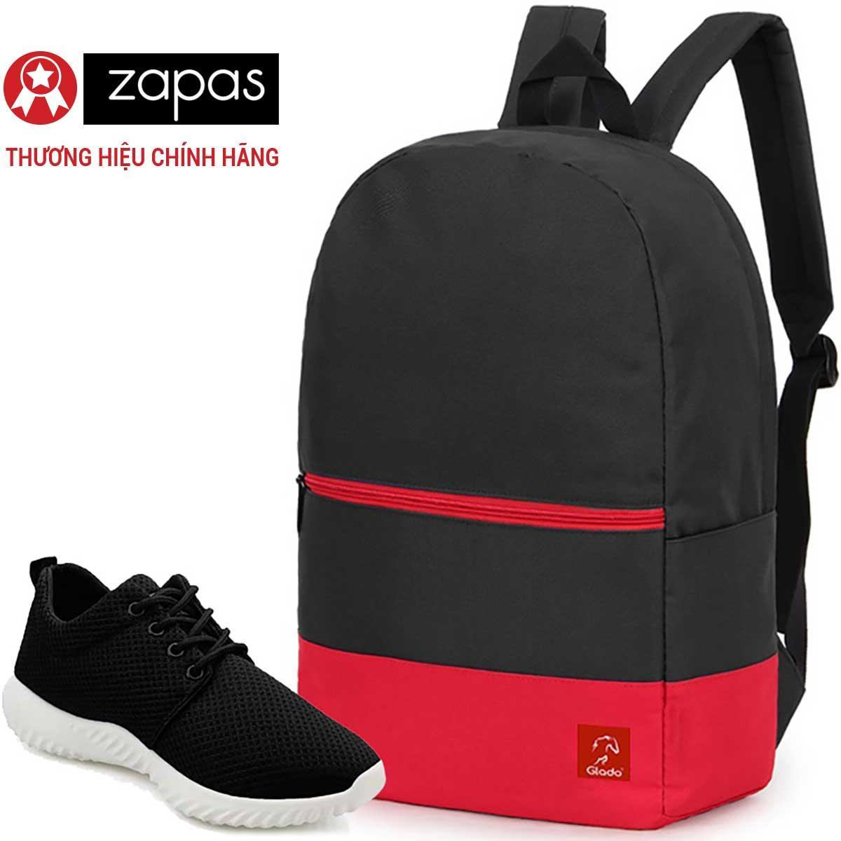 Bán Combo Balo Classical Bll007 Đen Phối Đỏ Giay Sneaker Zapas Gs062 Đen Cb231 Rẻ Trong Hồ Chí Minh