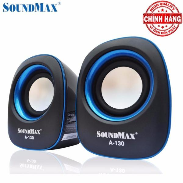 Bảng giá Loa vi tính Soundmax A-130 chuẩn 2.0 nguồn vào USB DC 5V (Đen viền xanh) Phong Vũ
