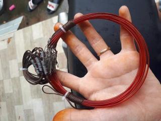 3 bộ thòng dây 60 vòng bẫy cúm núm ( đường kính 13cm ) bẫy gà đồng cước thái, dù siêu bền, khoen đồng hàng thái lan ( 3 bộ 60 vòng dài 6m ) thumbnail