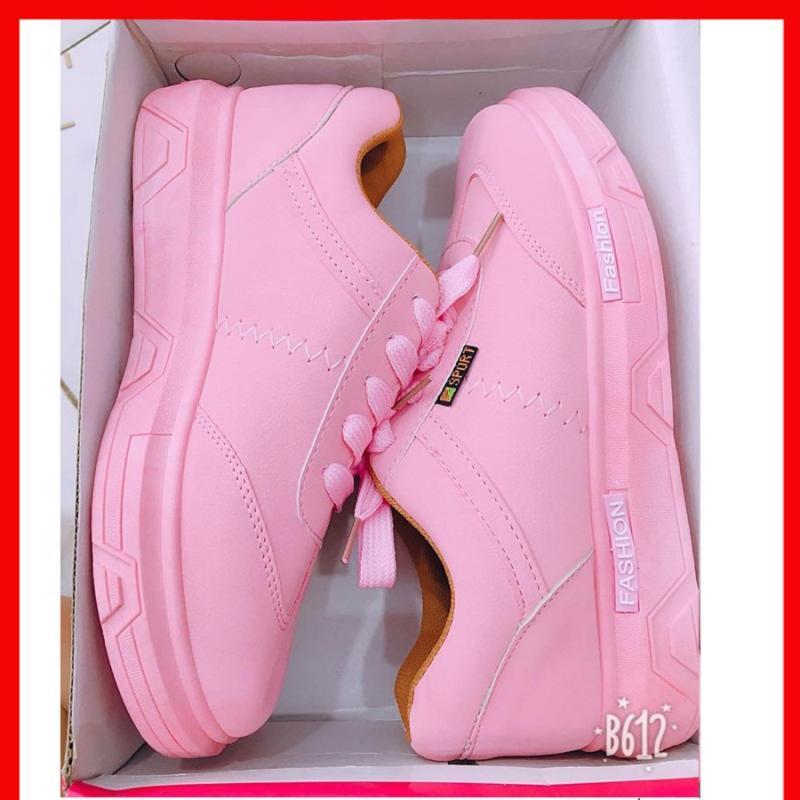 Giày sneaker nữ fashion màu hồng