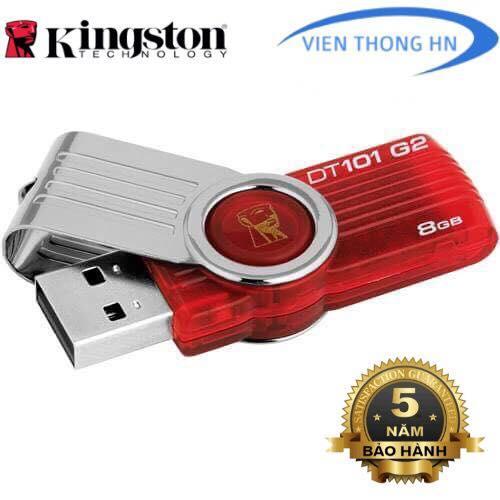 Hình ảnh USB 2.0 Kingston DT101 G2 8GB - CÓ NTFS - CAM KẾT BH 5 NĂM 1 ĐỔI 1