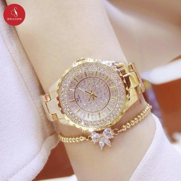 [HCM]Đồng hồ nữ Bee Sister 0280 cao cấp 32mm (Vàng/Bạc) + Tặng hộp đựng đồng hồ thời trang & Pin