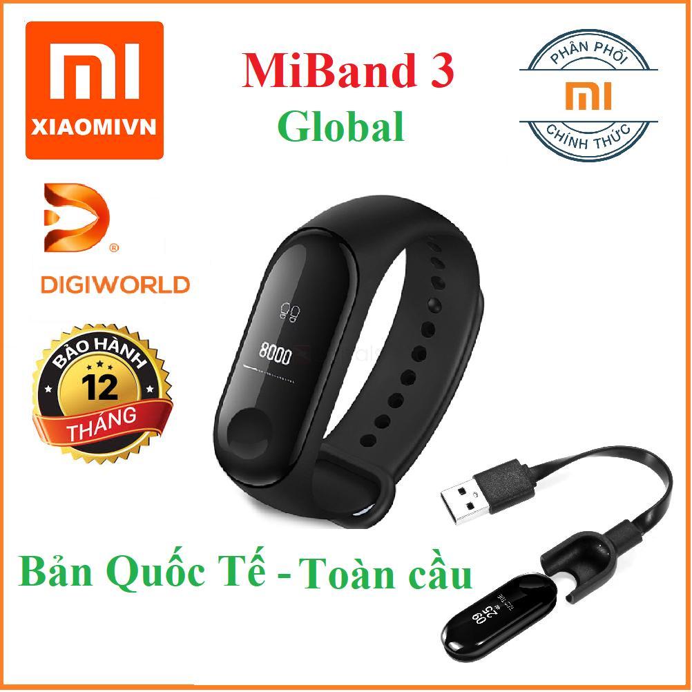 Hình ảnh Vòng đeo tay Xiaomi MIBAND 3 Bản Quốc tế Toàn cầu - DiGiWorld