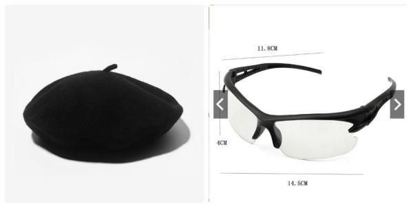 Giá bán Combo kính phân cực mắt trắng và mũ nồi beret cho nam nữ