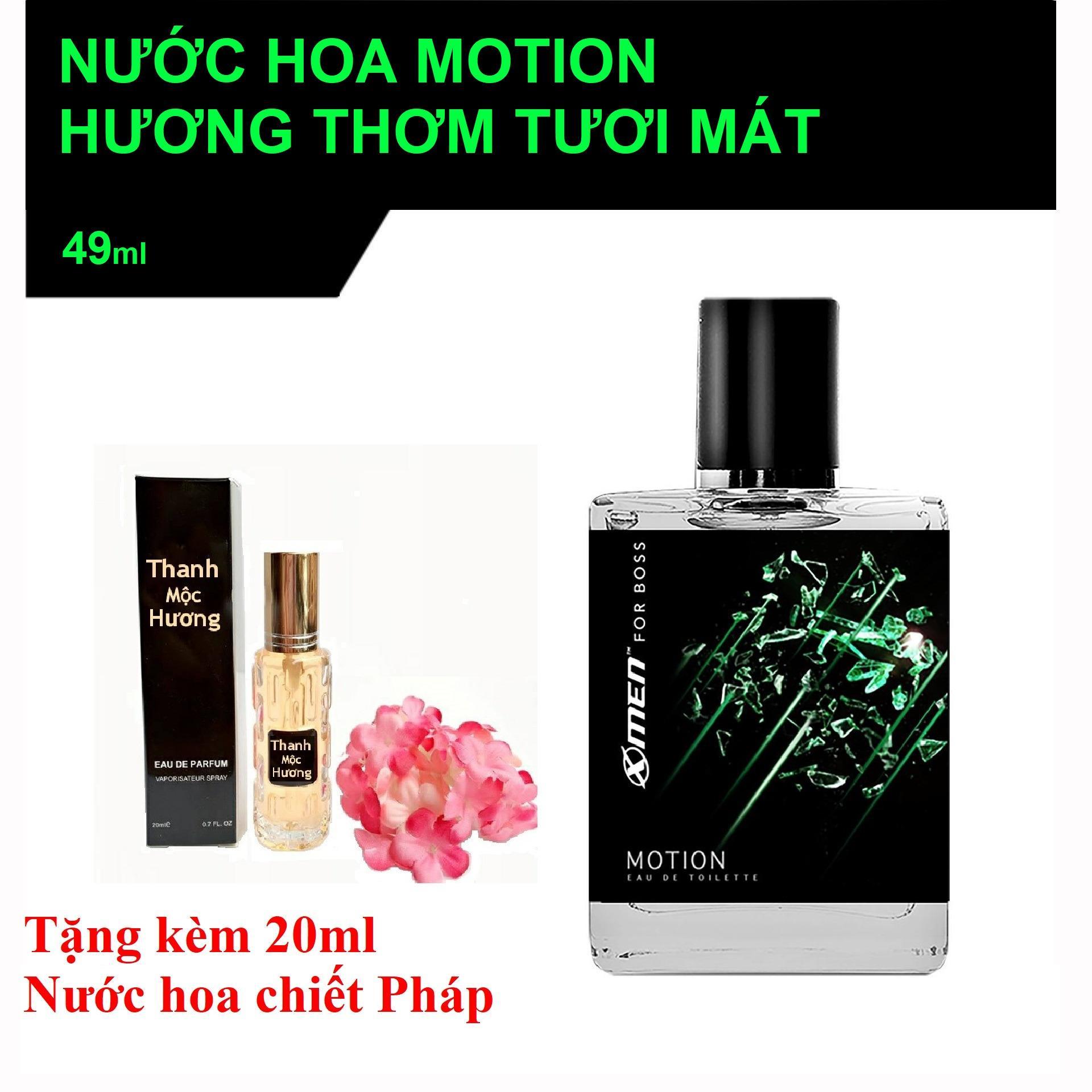 Nước hoa xmen for Boss Motion có hộp tặng kèm 20ml nước hoa chiết Pháp