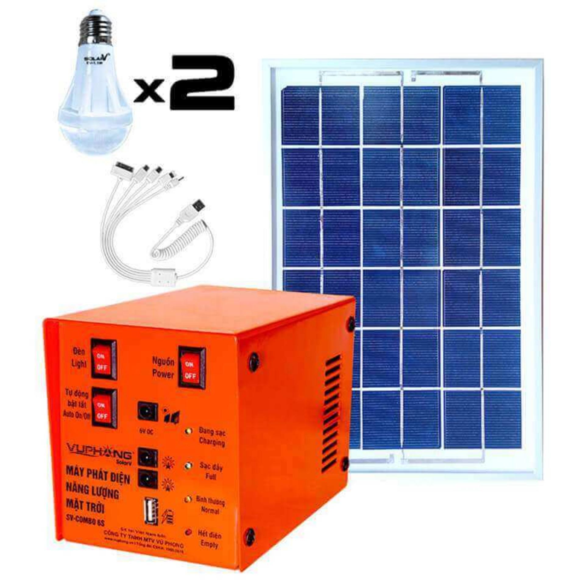 Bộ Máy phát điện năng lượng mặt trời SolarV SV COMBO-6S (Cam)