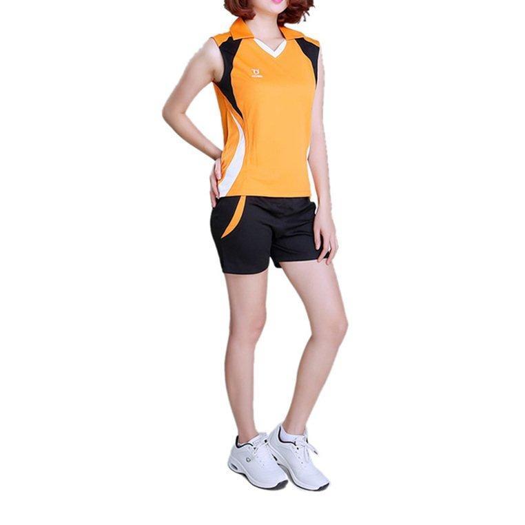 Hình ảnh Bộ bóng chuyền nữ sát nách - Cam - 5121