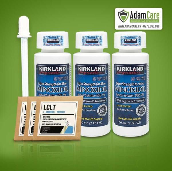 [HCM]Thuốc Mọc Râu Tóc Minoxidil 5% Combo 3 lọ Tặng 3 gói bột LCLT