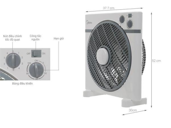 Quạt hộp Midea KYT30-15A 40W 30cm (Xám)