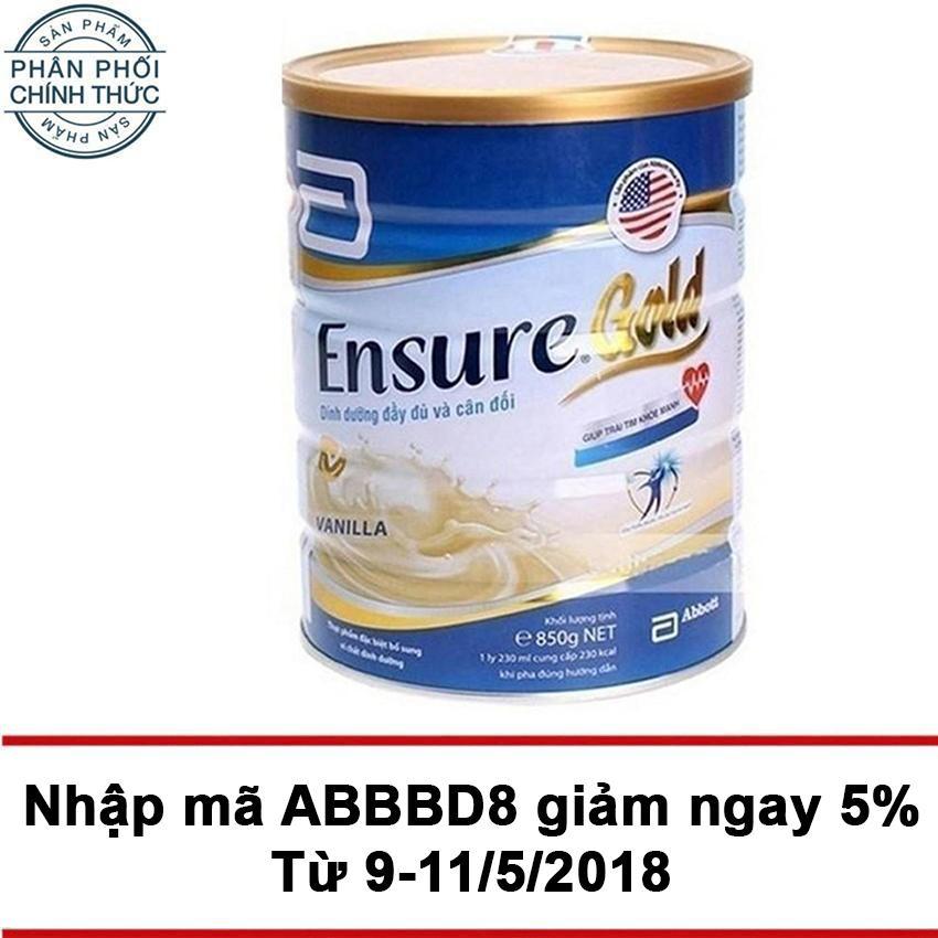 Mua Lon Sữa Bột Ensure Gold Hương Vani 850G Rẻ