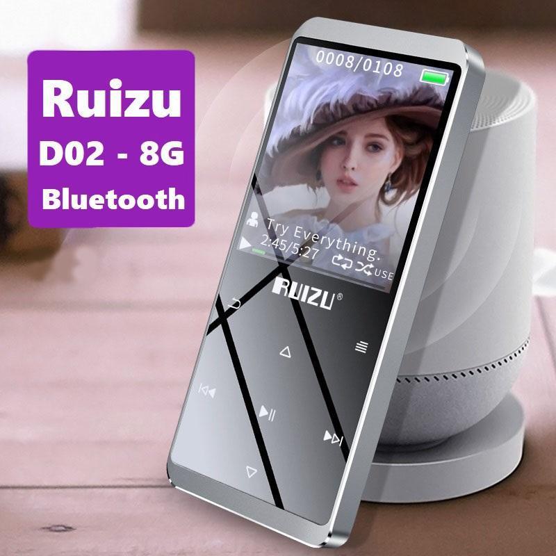 Máy nghe nhạc MP3 Lossless Ruizu D02 - 8G (Phiên bản Bluetooth)