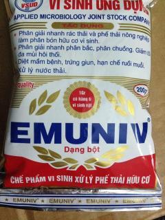 Emuniv vi sinh - chế phẩm ủ phân hữu cơ xử lý phân gia súc gia cầm thumbnail