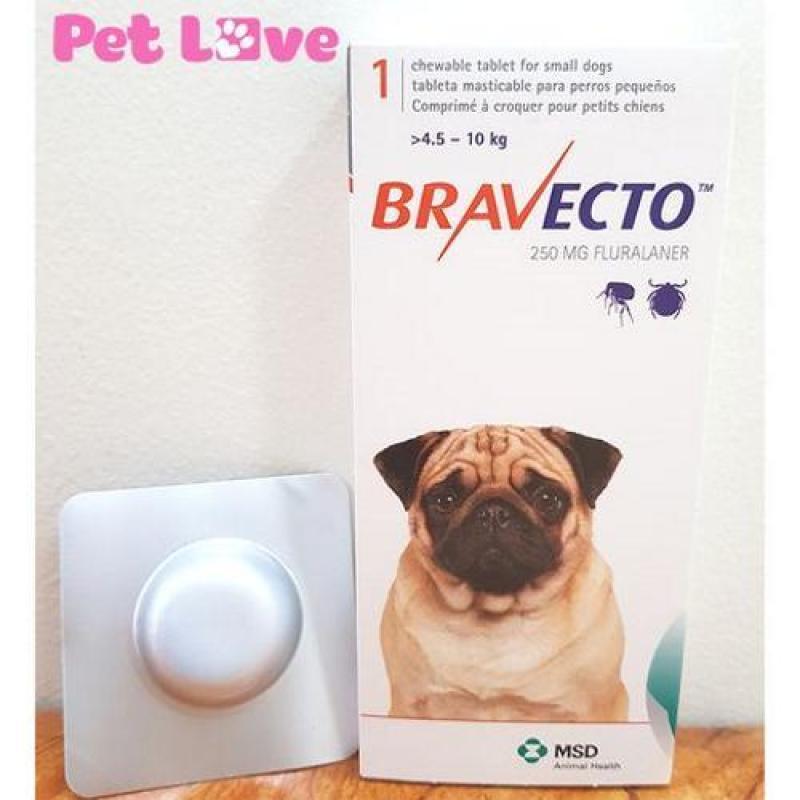 Thuốc Bravecto trị ghẻ, viêm da, ve rận (chó từ 4,5 - 10kg)