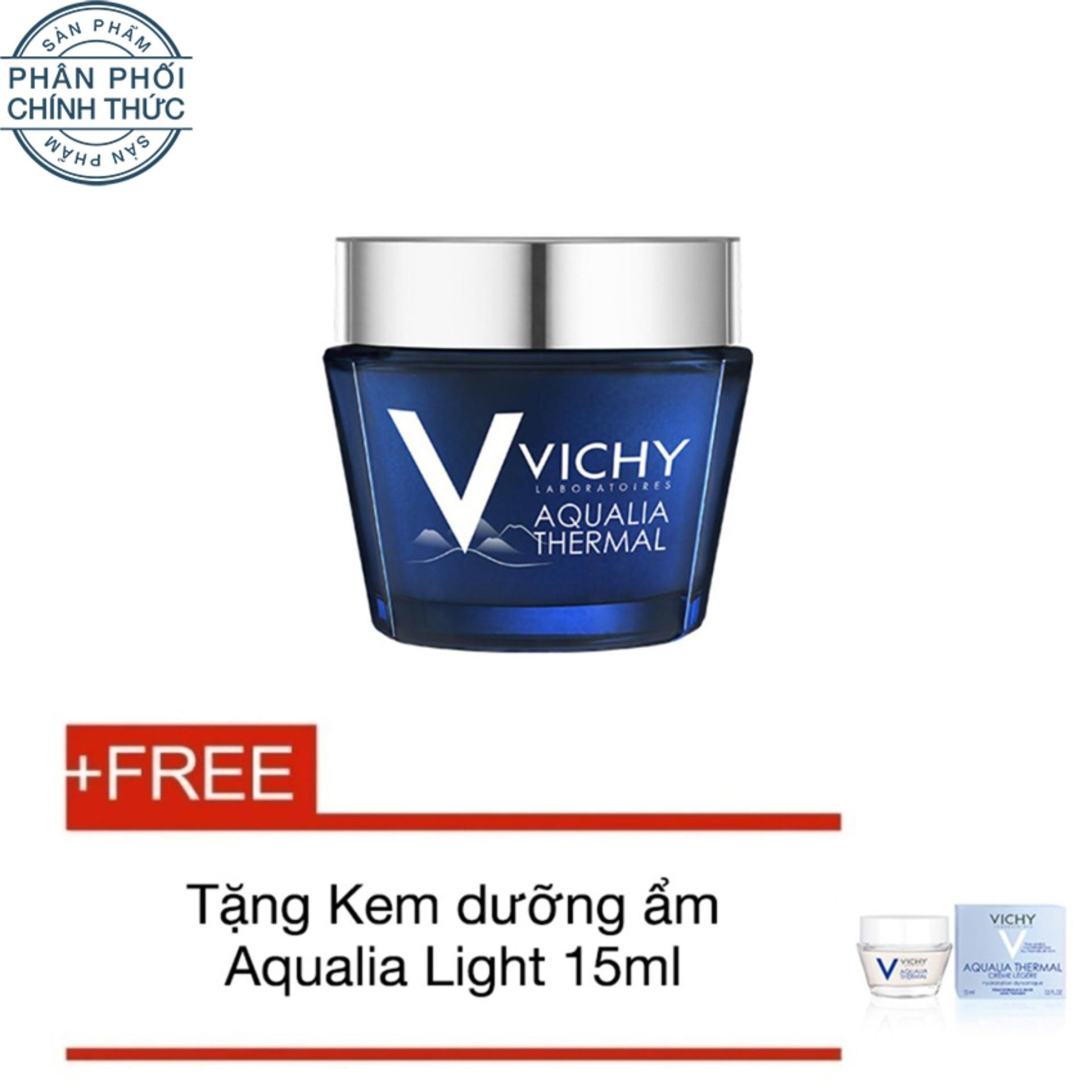 Mã Khuyến Mại Mặt Nạ Ngủ Dưỡng Ẩm Vichy Aqualia Thermal Spa Sleeping Mask 75Ml Tặng Kem Dưỡng Ẩm Aqualia Light Cream 15Ml Trong Vietnam