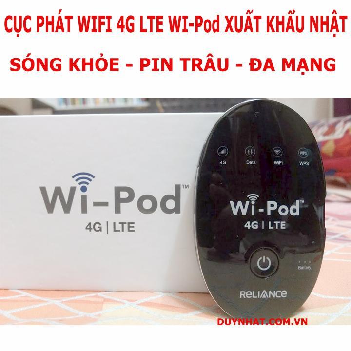 Củ Phát Wifi Không Dây Wi-Pod , Đa Mạng, Sóng Khỏe, Tốc Độ Chuẩn 4G LTE, Pin Siêu Bền