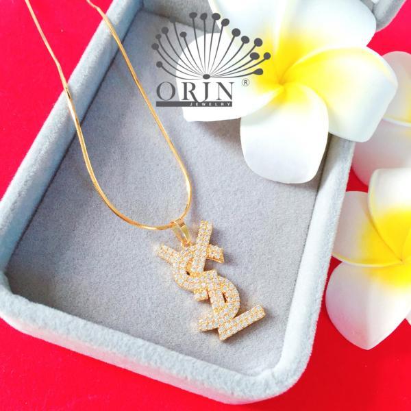 Dây chuyền chữ YS và chữ L dây mì khóa tròn cao cấp Orin D3785