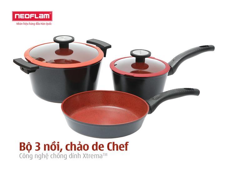 Bộ 3 nồi chảo de Chef