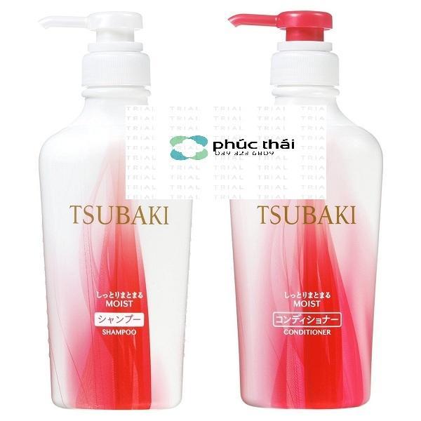 Dầu gội, dầu xả, Tsubaki, Nhật bản dưỡng tóc, phục hồi tóc hư tổn  màu đỏ (mẫu mới 2018 - chai 315ml) - Hàng nhật nội địa giá rẻ