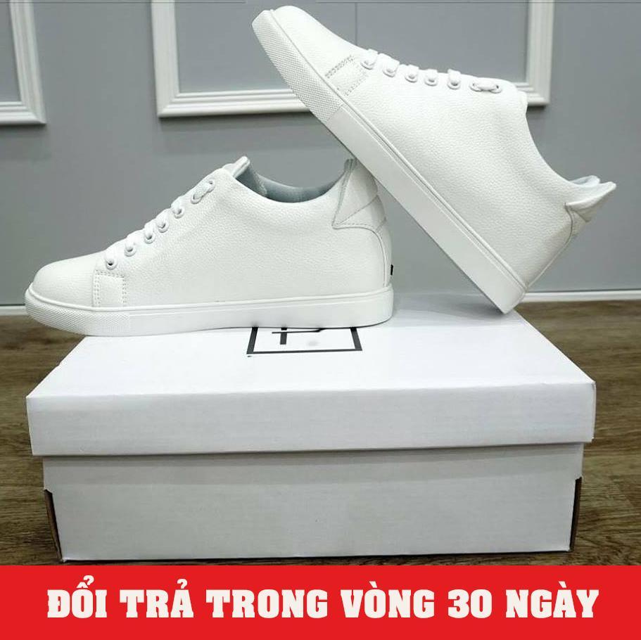 Giày Sneaker Nam Độn Đế 6cm Trắng 2019 (Giá Cực Sốc) - KINGSHOES (KS01)