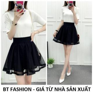 Chân Váy Xòe Lưới Ngắn Duyên Dáng Thời Trang Hàn Quốc - BT Fashion (VA04- Lưới) thumbnail