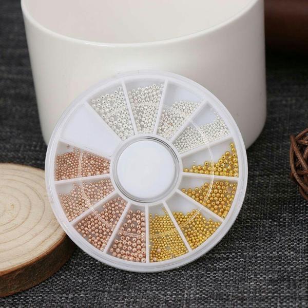 Bi hạt trang trí móng (vàng-trắng-vàng đồng)