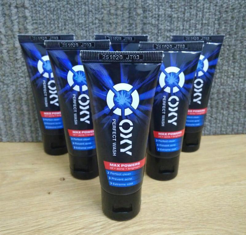 Combo 5 tuýp sữa rửa mặt Oxy Perfect Wash (25g/hộp) + Vớ ngắn oxy cực cool nhập khẩu