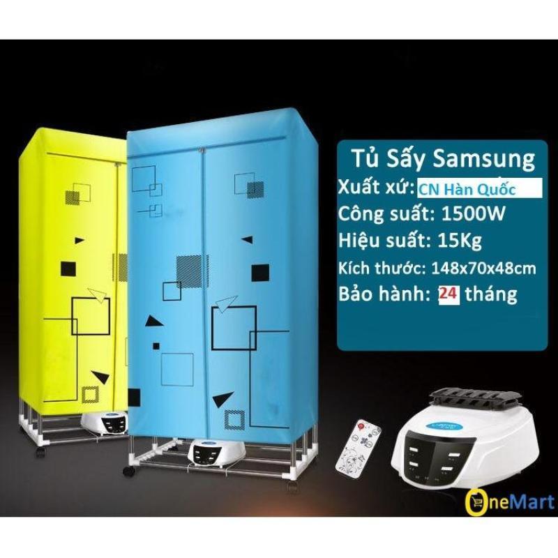 Tủ sấy quần áo SAMSUNG 2 tầng sấy 15kg quần áo nhanh khô(xanh)- SALES
