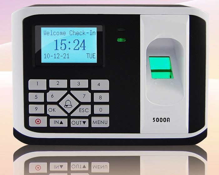 Hình ảnh Máy chấm công Kiểm Soát cửa bằng Vân tay + cảm ứng 5000AID