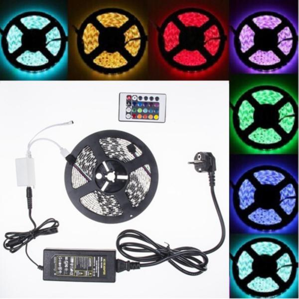 Bảng giá Đèn led dây 5050 RGB phủ keo silicon siêu sáng 12v + Remote