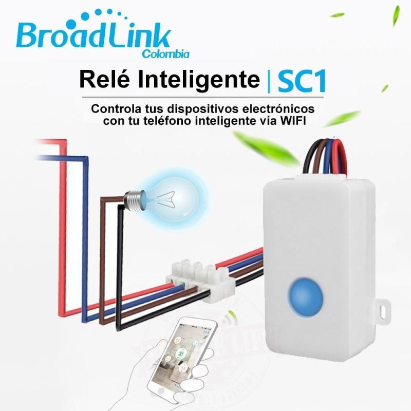 Công tắc điều khiển từ xa bằng điện thoại kết nối wifi,3G/4G Broadlink SC1 công suất 2500W (trắng)