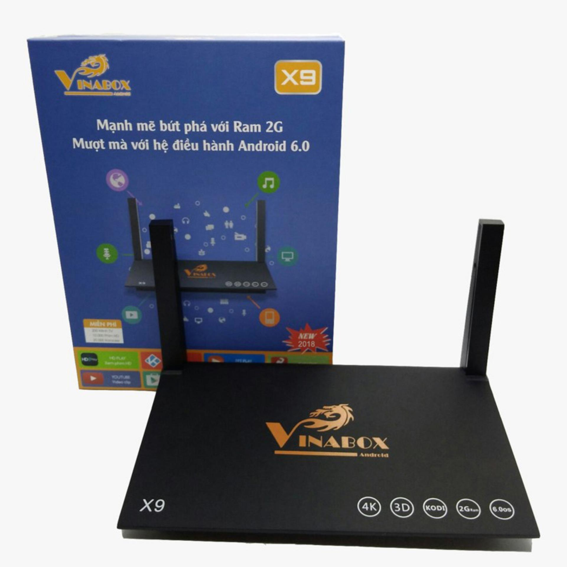 Android Tv Vinabox X9 2018 Ram 2Gb Android 6 Long An Chiết Khấu