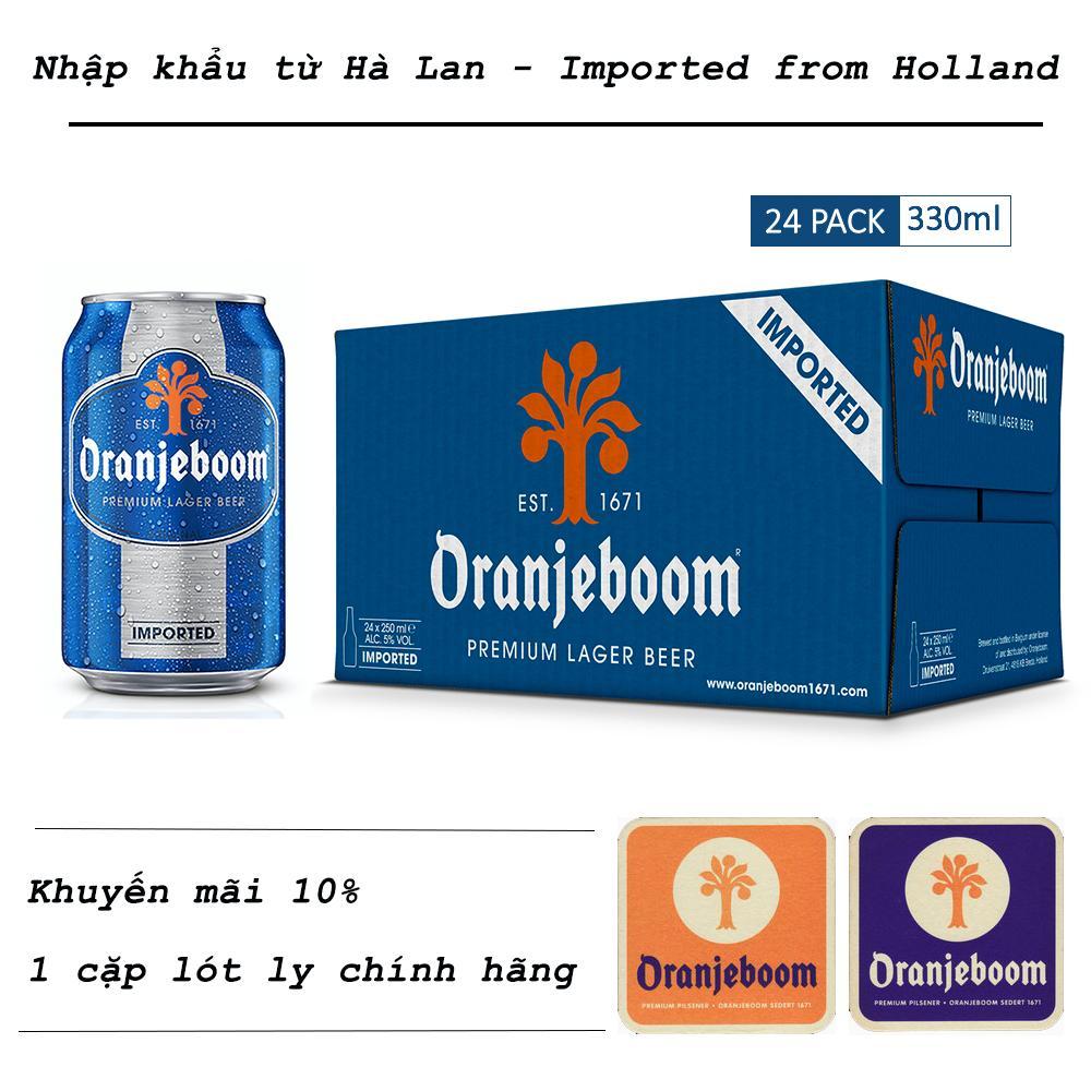 Oranjeboom - Bia nhập khẩu Hà Lan - 24 lon x 330ml -  beer airline - since 1993 Nhật Bản
