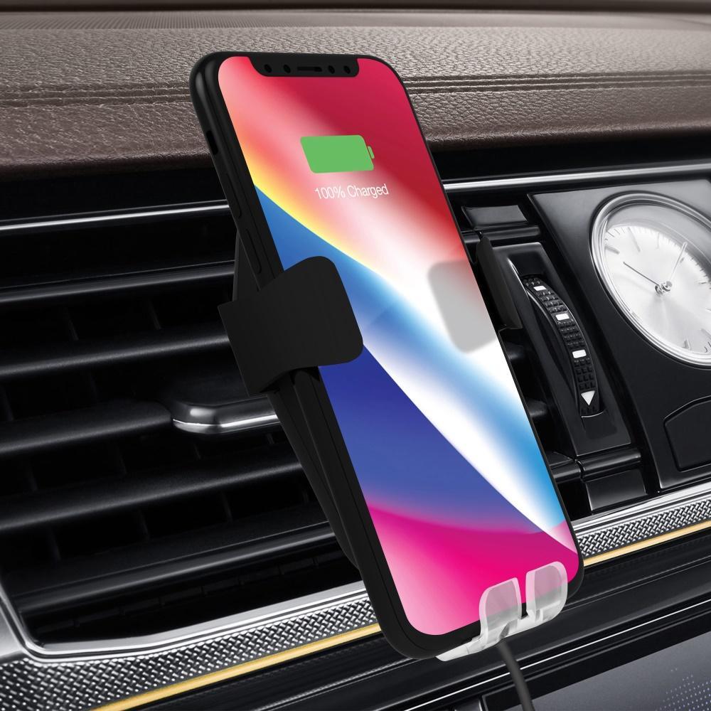 Đế sạc nhanh không dây cao cấp sạc nhanh công suất 10W trên ô tô chuẩn Qi cho iphone X , iphone 8, Note8 smartphone hãng I-smile - Phân phối bởi Vietstore