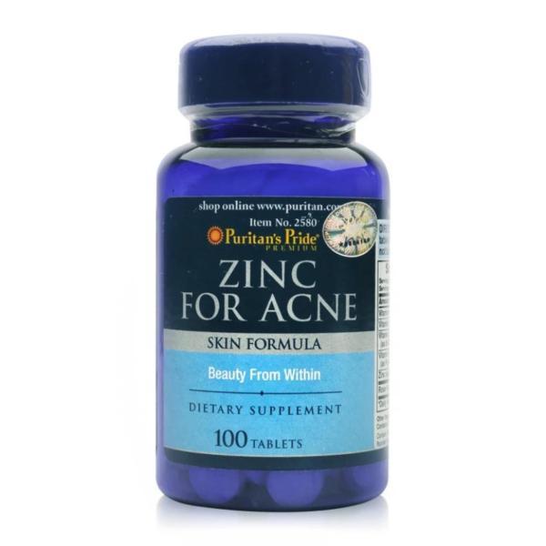 Viên uống kẽm trị mụn Puritans Pride Premium Zinc For Acne (100 viên)