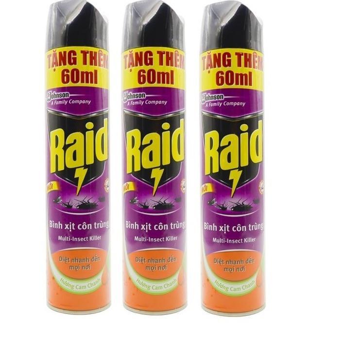 Hình ảnh Bình xịt côn trùng Raid 600ml tặng thêm 60ml