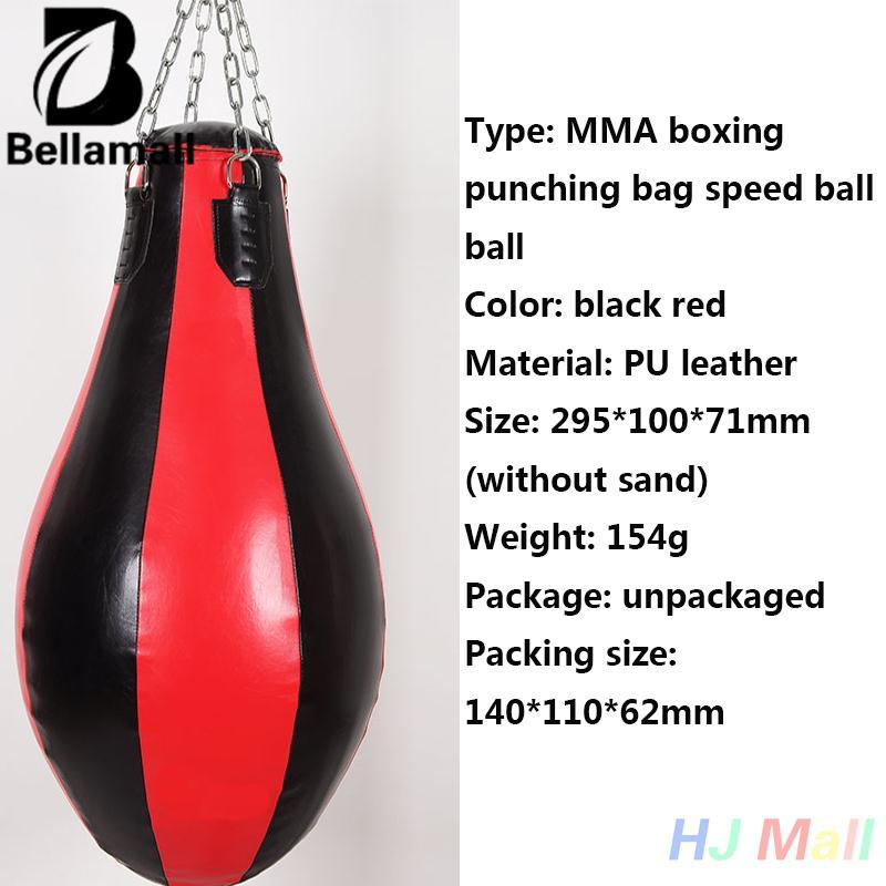 Bán Bellamall:MMA Boxing Puch Leather Speed Bag Punching Sandbag Boxer Training Kickboxing - intl